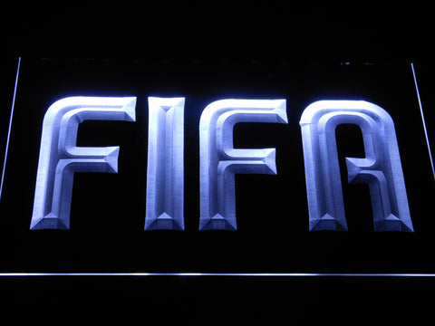 Image of FIFA LED Neon Sign - White - SafeSpecial