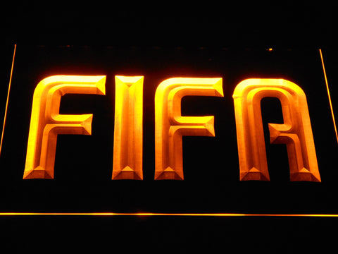 Image of FIFA LED Neon Sign - Yellow - SafeSpecial