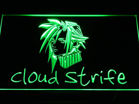Image of Final Fantasy Cloud Strife LED Neon Sign - Green - SafeSpecial