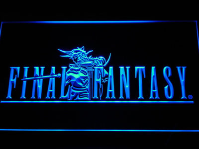 Final Fantasy I LED Neon Sign - Blue - SafeSpecial