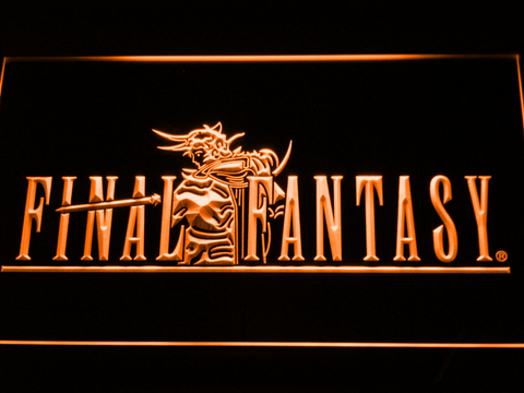 Image of Final Fantasy I LED Neon Sign - Orange - SafeSpecial