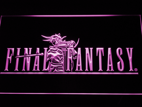 Image of Final Fantasy I LED Neon Sign - Purple - SafeSpecial