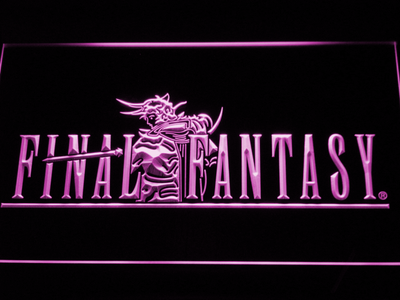 Final Fantasy I LED Neon Sign - Purple - SafeSpecial