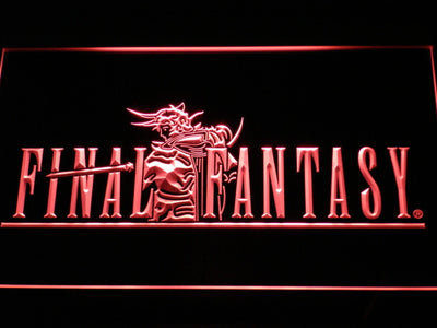 Final Fantasy I LED Neon Sign - Red - SafeSpecial