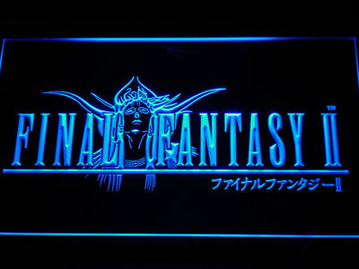 Final Fantasy II LED Neon Sign - Blue - SafeSpecial