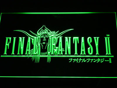 Final Fantasy II LED Neon Sign - Green - SafeSpecial