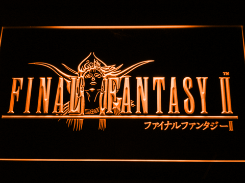 Image of Final Fantasy II LED Neon Sign - Orange - SafeSpecial
