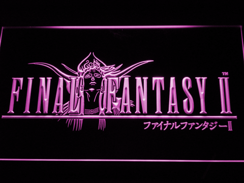 Image of Final Fantasy II LED Neon Sign - Purple - SafeSpecial