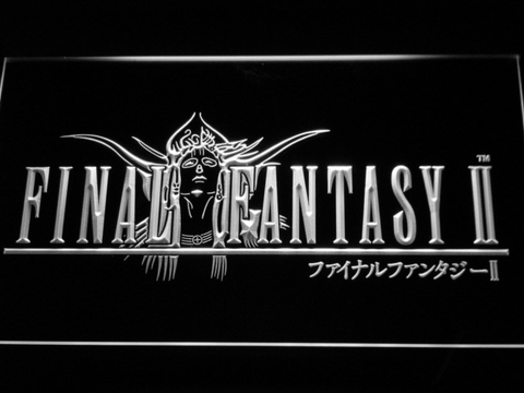 Image of Final Fantasy II LED Neon Sign - White - SafeSpecial