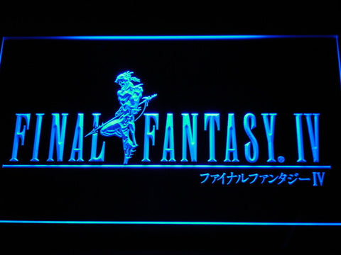 Image of Final Fantasy IV LED Neon Sign - Blue - SafeSpecial