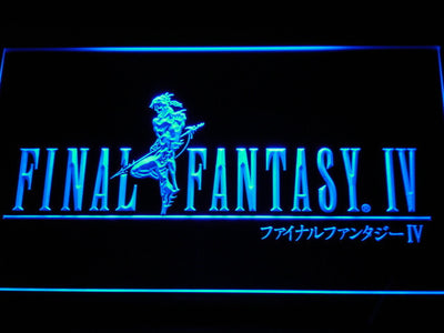 Final Fantasy IV LED Neon Sign - Blue - SafeSpecial