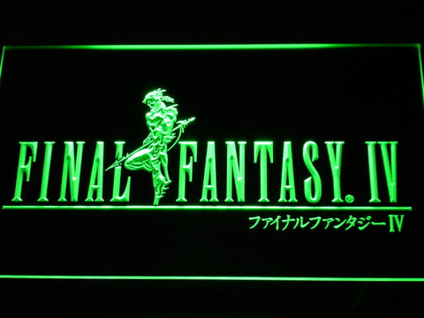 Image of Final Fantasy IV LED Neon Sign - Green - SafeSpecial