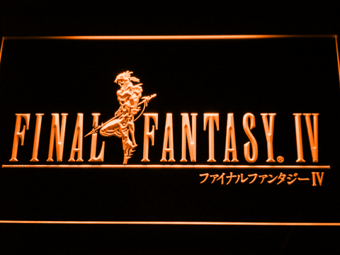 Image of Final Fantasy IV LED Neon Sign - Orange - SafeSpecial