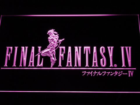 Image of Final Fantasy IV LED Neon Sign - Purple - SafeSpecial