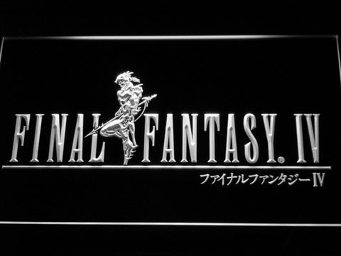Image of Final Fantasy IV LED Neon Sign - White - SafeSpecial