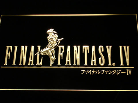 Image of Final Fantasy IV LED Neon Sign - Yellow - SafeSpecial