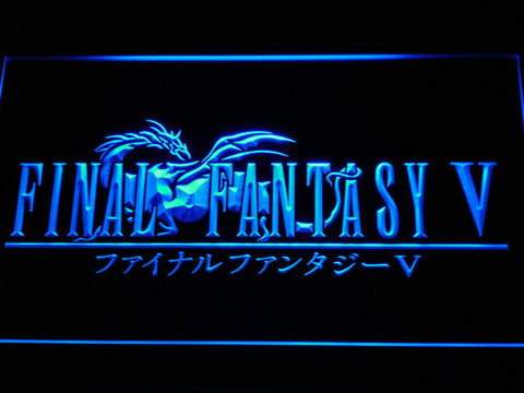 Image of Final Fantasy V LED Neon Sign - Blue - SafeSpecial