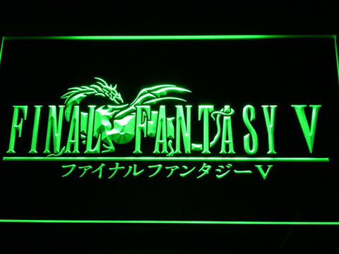 Image of Final Fantasy V LED Neon Sign - Green - SafeSpecial