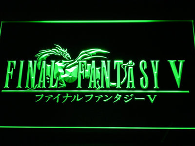 Final Fantasy V LED Neon Sign - Green - SafeSpecial