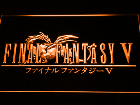 Image of Final Fantasy V LED Neon Sign - Orange - SafeSpecial