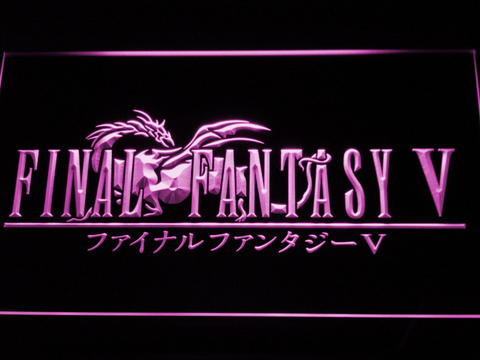 Image of Final Fantasy V LED Neon Sign - Purple - SafeSpecial