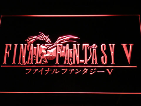 Image of Final Fantasy V LED Neon Sign - Red - SafeSpecial