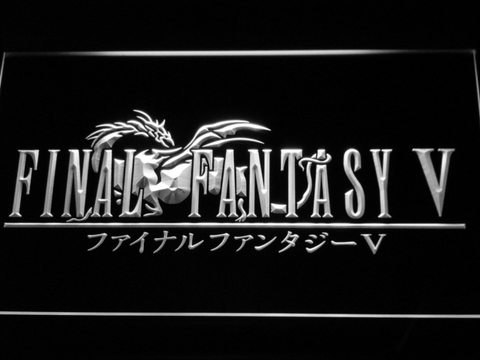 Image of Final Fantasy V LED Neon Sign - White - SafeSpecial