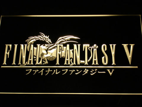 Image of Final Fantasy V LED Neon Sign - Yellow - SafeSpecial