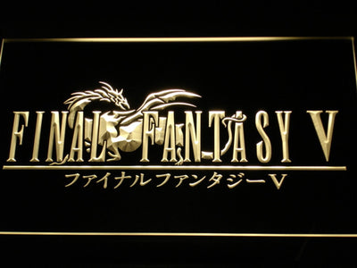 Final Fantasy V LED Neon Sign - Yellow - SafeSpecial