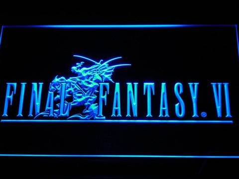 Final Fantasy VI LED Neon Sign - Blue - SafeSpecial