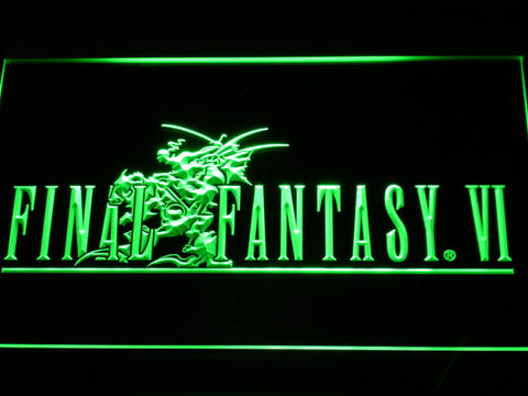Final Fantasy VI LED Neon Sign - Green - SafeSpecial