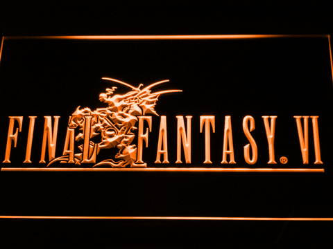 Final Fantasy VI LED Neon Sign - Orange - SafeSpecial