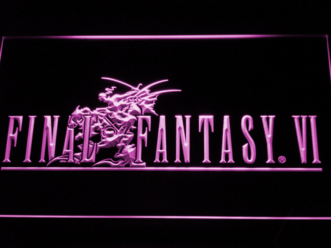 Final Fantasy VI LED Neon Sign - Purple - SafeSpecial