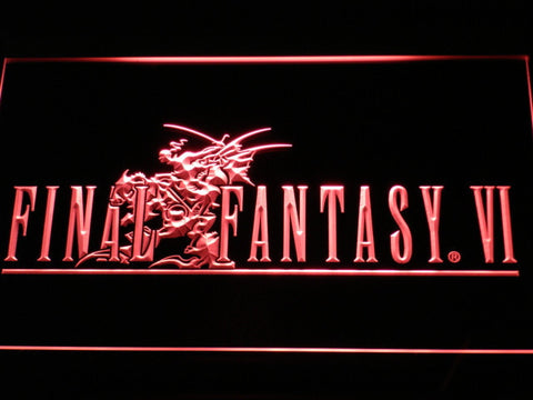 Final Fantasy VI LED Neon Sign - Red - SafeSpecial