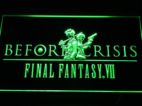 Final Fantasy VII Before Crisis LED Neon Sign - Green - SafeSpecial