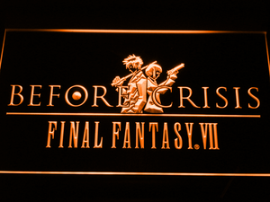 Final Fantasy VII Before Crisis LED Neon Sign - Orange - SafeSpecial
