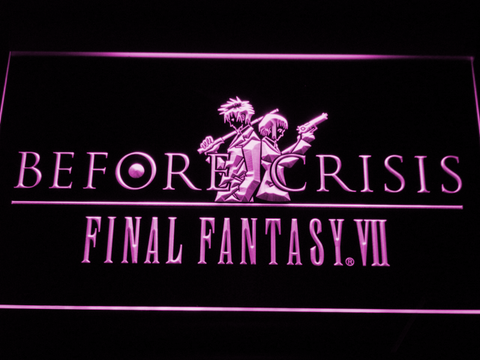 Final Fantasy VII Before Crisis LED Neon Sign - Purple - SafeSpecial