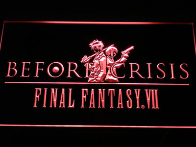 Final Fantasy VII Before Crisis LED Neon Sign - Red - SafeSpecial
