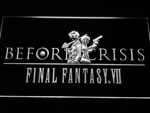 Final Fantasy VII Before Crisis LED Neon Sign - White - SafeSpecial