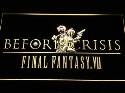 Final Fantasy VII Before Crisis LED Neon Sign - Yellow - SafeSpecial