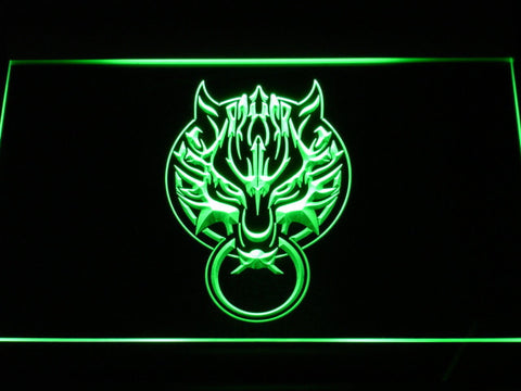 Final Fantasy VII - Fenrir LED Neon Sign - Green - SafeSpecial