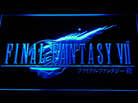 Image of Final Fantasy VII LED Neon Sign - Blue - SafeSpecial