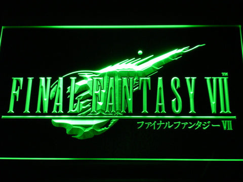 Image of Final Fantasy VII LED Neon Sign - Green - SafeSpecial