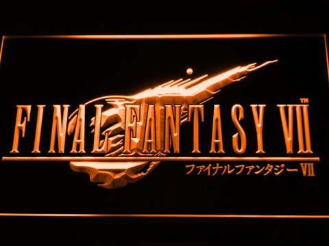 Image of Final Fantasy VII LED Neon Sign - Orange - SafeSpecial