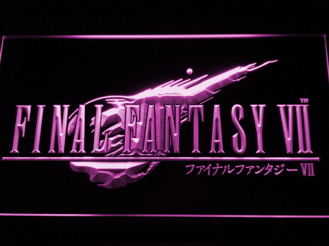 Image of Final Fantasy VII LED Neon Sign - Purple - SafeSpecial