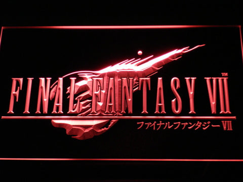 Image of Final Fantasy VII LED Neon Sign - Red - SafeSpecial