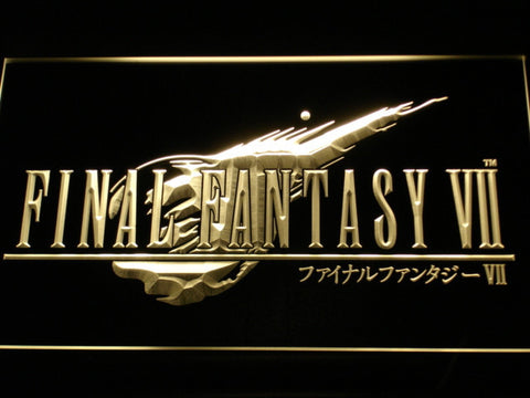 Image of Final Fantasy VII LED Neon Sign - Yellow - SafeSpecial