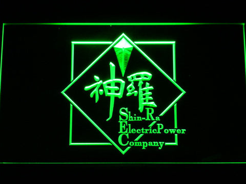 Final Fantasy VII - Shin-Ra LED Neon Sign - Green - SafeSpecial