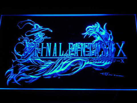 Image of Final Fantasy X LED Neon Sign - Blue - SafeSpecial