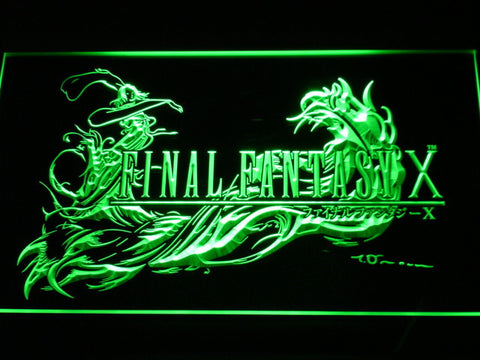 Image of Final Fantasy X LED Neon Sign - Green - SafeSpecial